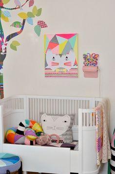 eclectic colorful nursery #nursery #nurserydecor #nurseryart #nurseryideas #interiordesignideas inimal #design #designinspiration #interiordesign #interiordesignideas #babygirl #girlsroom