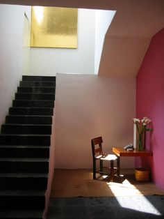 Casa Barragan...We're so thrilled by the possibilities of a bare wall! Find art prints at http://www.theprintatelier.com/