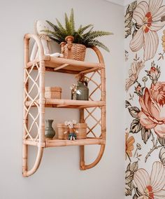 Cane Furniture, Bamboo Furniture, Kids Furniture, Deco Studio, Deco Boheme, Boho Home, Boho Bedroom Decor, My New Room, Wall Shelves