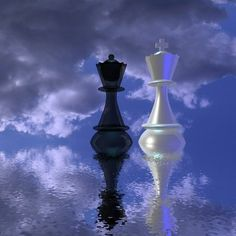 lonely chess paintings | Schach-dame-koenig