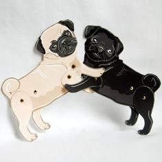 Pug Paper Dolls  Set of 2 par AfricanGrey sur Etsy