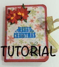 DIY Tutorial mini album mini one sheet album idea para regalar manualida...