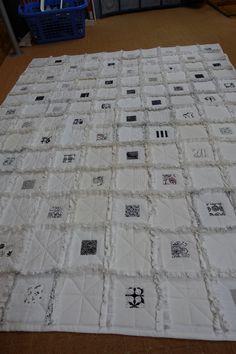 RagTime Quilt aus alte Bettwäsche