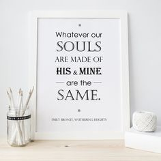 Our Wuthering Height's print is so beautiful for your bedroom or would be an ideal Wedding Gift. #love #weddinggifts #wutheringheights