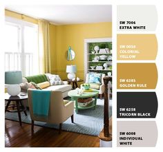 """Yellow everything please!   """"Colonial Yellow"""" for the living room?Paint colors from Chip It! by Sherwin-Williams"""