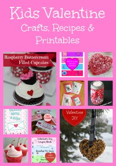 Check out this fun list of Valentine's Day recipes, crafts, homemade valentines and free printables!