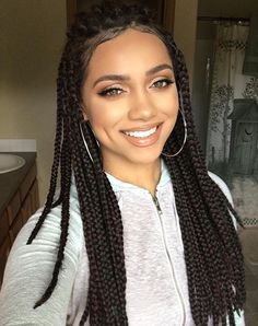 61 Totally Chic And Colorful Box Braids Hairstyles To Wear! Box Braids Hairstyles, African Hairstyles, Girl Hairstyles, Box Dreads, Locs, Curly Hair Styles, Natural Hair Styles, Pelo Afro, Best Wedding Hairstyles
