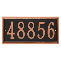 Montague Metal Products Fremont Rectangle One Line Address Sign Plaque Finish: Hunter Green/Gold