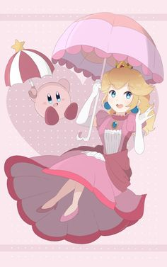 Princess Peach and Parasol Kirby will be my first print releasing next month! For now though, July Patrons well receive this as a reward! More art . Super Smash Bros Ultimate - Peach and Kirby Print Party Characters, Cute Cartoon Characters, Nintendo Characters, Video Game Characters, Super Smash Bros Brawl, Nintendo Super Smash Bros, Nintendo Princess, Princesa Peach, Arte Sailor Moon