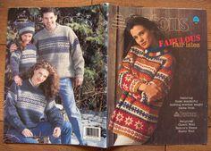 1996 Knitting patterns Fabulous FAIR ISLES by GransTreasures