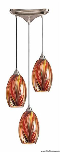 Hand Blown Glass Pendants / Elk Lighting