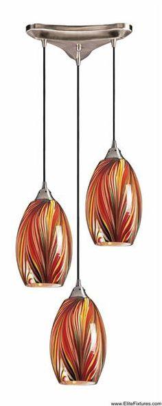 Hand Blown Glass Pendants / Elk Lighting