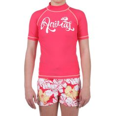 Animal Petrel Girls Rash Vest in Paradise Pink for £11.99 at Urban Surfer. Fitting 2-6 year olds!