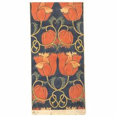 ca. 1888, Charles Voysey Design for a printed textile, Victoria and Albert Museum.