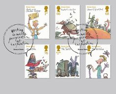 Royal Mail Stamps Bring Roald Dahl Characters to Life on http://blog.howdesign.com