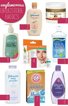 Unglamorous drugstore basics with multiple uses for cheap! #drugstore #skincare
