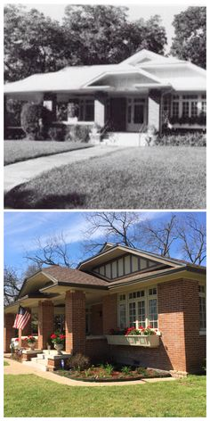 High House built 1920-Craftsman bungalow with clipped, hipped roof.