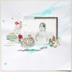 Glitter Accents for Beach Page by Stephaniebryan @ Two Peas in a Bucket