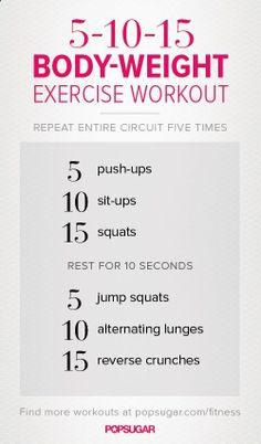 A No-Equipment Workout .