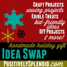The Handmade Holiday Gift Idea Swap + a Chance to Win giftcard to Jo-Ann! From @Amy Bell {Positively Splendid}