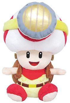 "Sanei Super Mario Series Sitting Pose Captain Toad Plush Toy, 6.5"" Sanei http://smile.amazon.com/dp/B00OR1GIHW/ref=cm_sw_r_pi_dp_slBRub0QA82K8"