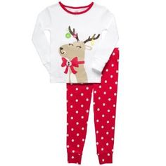cute kids reindeer christmas pajamas for little girls toddlers and babies toddler christmas pajamas - Christmas Pajamas For Girls