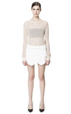 FOLD OVER SKORT from Zara - I'm literally planning a trip to Zara just to procure this incredible skort!