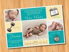 Ausgefallene Dankeskarten Geburt 186 - Bild vergrößern