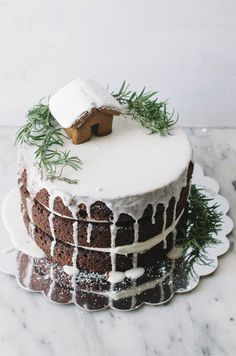 One Bowl Gingerbread Layer Cake - The Cake Merchant Christmas Sweets, Christmas Cooking, Noel Christmas, Christmas Cakes, Holiday Cakes, Xmas Cakes, Christmas Cake Decorations, Chocolate Decorations, Cake Merchant