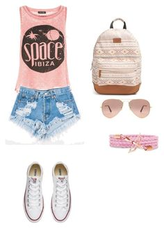 """""""Women"""" by mirela-876 ❤ liked on Polyvore featuring New Look, Converse, Rip Curl, Levi's and Ray-Ban"""