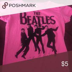 Beatles T Shirt Size 5T GUC magenta T shirt. Has very very mild piling. Shirts & Tops Tees - Short Sleeve