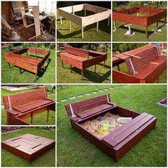 DIY Nice Sandbox for Kids 3