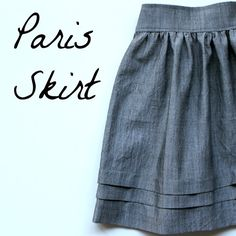 DIY Paris Skirt Tutorial: looks pretty simple! Diy Clothing, Sewing Clothes, Clothing Patterns, Sewing Patterns, Dress Patterns, Barbie Clothes, Knitting Patterns, Sewing Coat, Clothing Storage