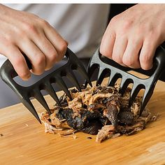 Pretty cool Wolverine like kitchen gadget---Meat Handler Fork Tongs Pull Shred Pork BBQ Barbecue Tool – USD $ 11.99