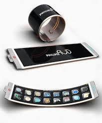 8d56b0df92cc2 Futuristic Philips Fluid Flexible Smartphone Concept by jan