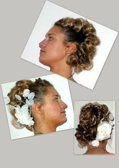 Romantic Updo very special with highlighted hair  Trendy Hairfashion for Bridal, Bride, Gala, Prom, Event, Party hair  Romantisch Opgestoken haar, erg speciaal met diverse highlight of lowlight in het haar. Voor de Trendy bruid, bruiloft, gala, gelegenheid en feest kapsel