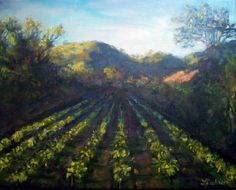 """Sonoma County Winery Oil Painting Art By Lisabelle 11x14"""" on canvas."""