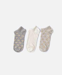3 pack of crown socks - OYSHO