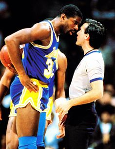 Magic Gets Intense With The Ref.