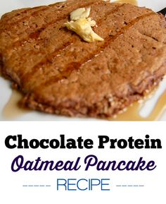 If you're not wanting eggs for breakfast but still want a protein punch, try protein oatmeal pancakes. I love making these in place of regular pancakes just to have a bit more protein for bre… Oatmeal Protein Pancakes, Chocolate Protein Pancakes, Protein Powder Pancakes, Chocolate Oats, Chocolate Protein Powder, Protein Breakfast, Chocolate Flavors, Chocolate Recipes, Breakfast Recipes