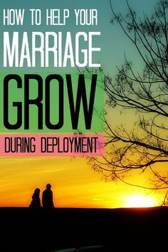 7 ways to GROW your marriage during a deployment! I love this!