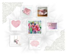 """""""Pink Gifts!"""" by keepsakedesignbycmm ❤ liked on Polyvore featuring French Country, Home, jewelry, art and accessories"""