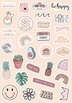 Stickers Cool, Preppy Stickers, Cute Laptop Stickers, Tumblr Stickers, Kawaii Stickers, Luggage Stickers, Planner Stickers, Journal Stickers, Scrapbook Stickers