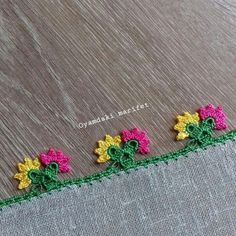 Most Showy Beaded Needle Lace Models Source by Crochet Borders, Crochet Flower Patterns, Baby Knitting Patterns, Crochet Flowers, Crochet Lace, Beaded Lace, Creative Embroidery, Embroidered Clothes, Needle Lace