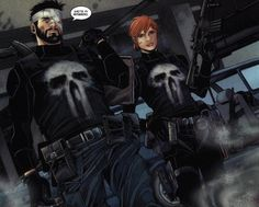 The Punishers, Frank Castle & Rachel Cole-Alves by Marco Checcheto in The Punisher Punisher Comic Book, Punisher Comics, Comic Book Characters, Marvel Characters, Comic Character, Comic Books, Fictional Characters, Marvel Heroes, Marvel Dc