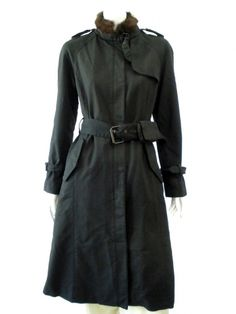 Norio Nakanishi's Trench with waistband and pockets. Price $591.00