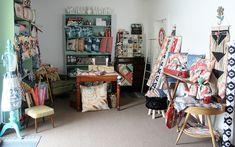 Studio New! Quilting Room, Art Gallery Fabrics, Sewing Rooms, Quilt Blocks, Studio, Fun, Handmade, Furniture, Room Ideas
