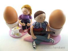 Tortenfiguren Brautpaar Eierbecher