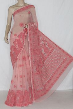 Peach Hand Embroidered Lucknowi Chikankari Saree (With Blouse - Georgette) 14320 , Buy Georgette Chikankari Sarees online, Pure Georgette Chikankari Sarees, Trendy Georgette Chikankari Sarees ,Designer Collection , online shopping india, sarees , sweets, cameras, shoes, watches, appliances, apparel, sweets online in india | www.maanacreation.com