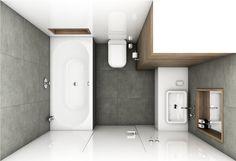 Moderní koupelna GRAFITE - Půdorys koupelny
